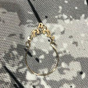 Gold necklace charm holder